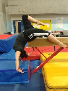 Catherine showing some beam skills
